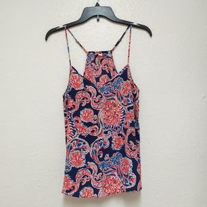 Lilly Pulitzer Silk Dust Racer Back Top EUC